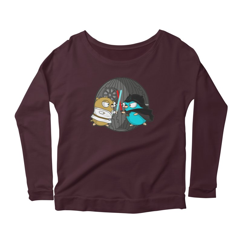 Gopher Wars Women's Scoop Neck Longsleeve T-Shirt by Women Who Go