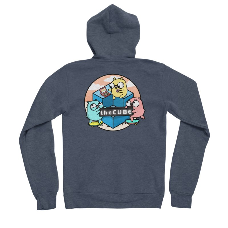 The Cube Men's Sponge Fleece Zip-Up Hoody by Women Who Go