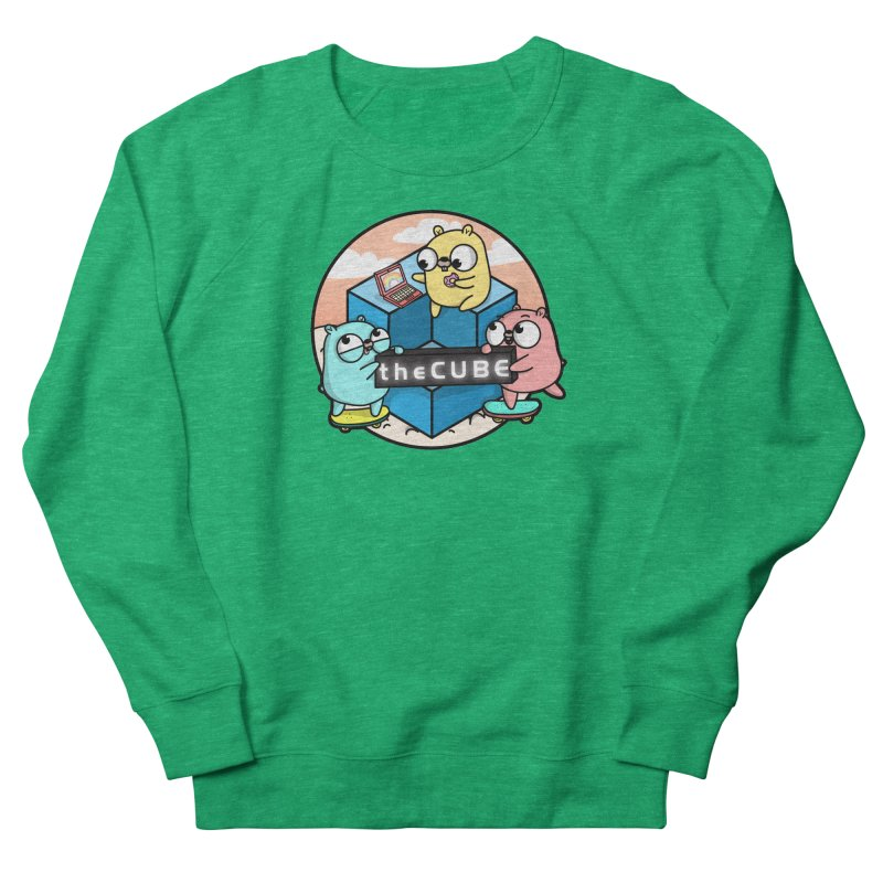 The Cube Men's French Terry Sweatshirt by Women Who Go