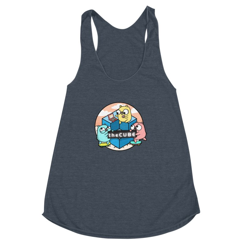 The Cube Women's Racerback Triblend Tank by Women Who Go