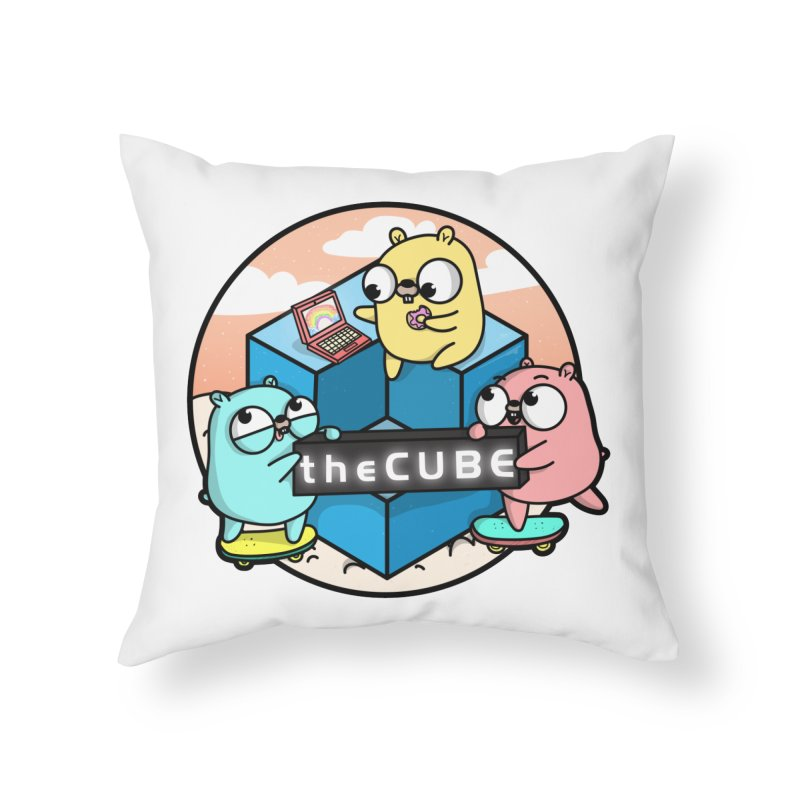 The Cube Home Throw Pillow by Women Who Go