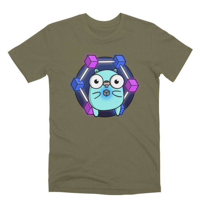 Blockchain Gopher Men's T-Shirt by Women Who Go