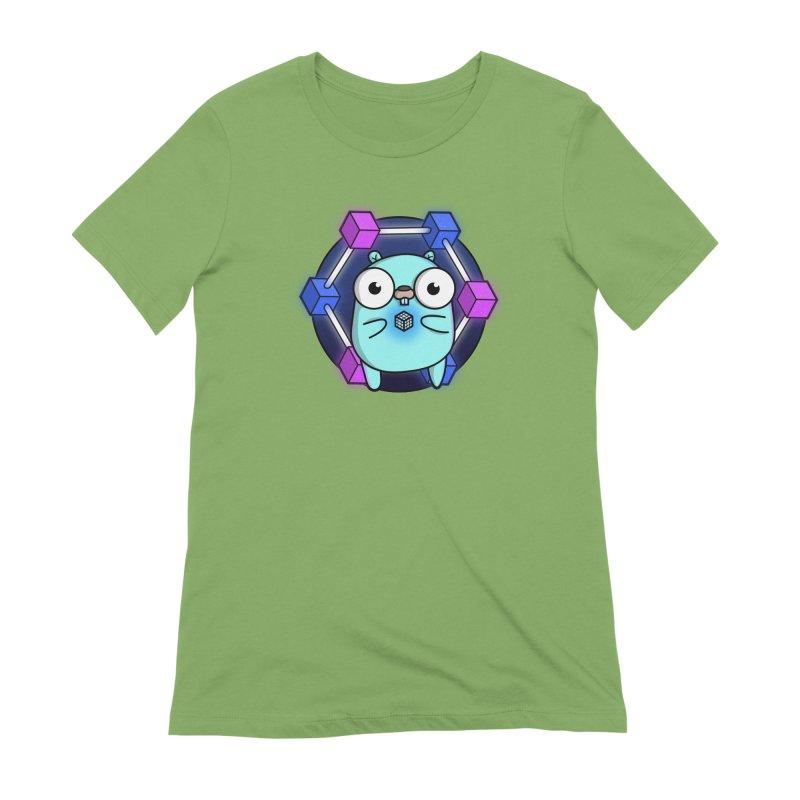 Blockchain Gopher Women's T-Shirt by Women Who Go