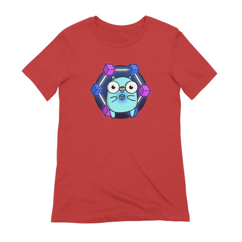 Blockchain Gopher Women's Extra Soft T-Shirt by Women Who Go