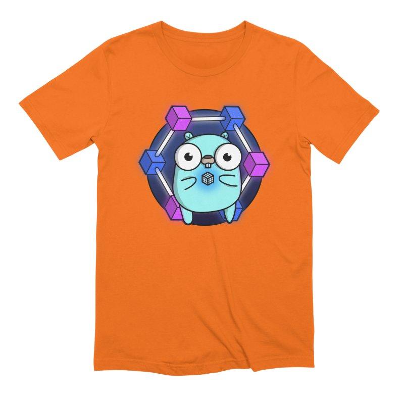 Blockchain Gopher Men's T-Shirt by Women Who Go
