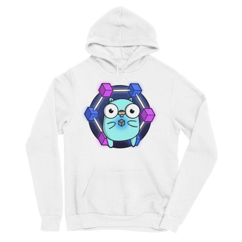 Blockchain Gopher Men's Sponge Fleece Pullover Hoody by Women Who Go