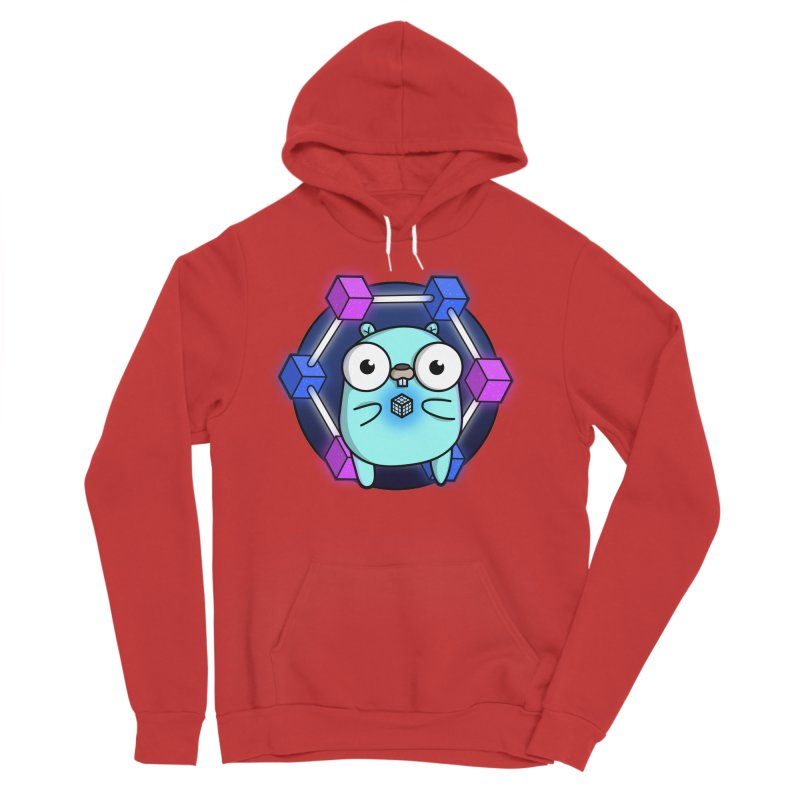 Blockchain Gopher Women's Sponge Fleece Pullover Hoody by Women Who Go