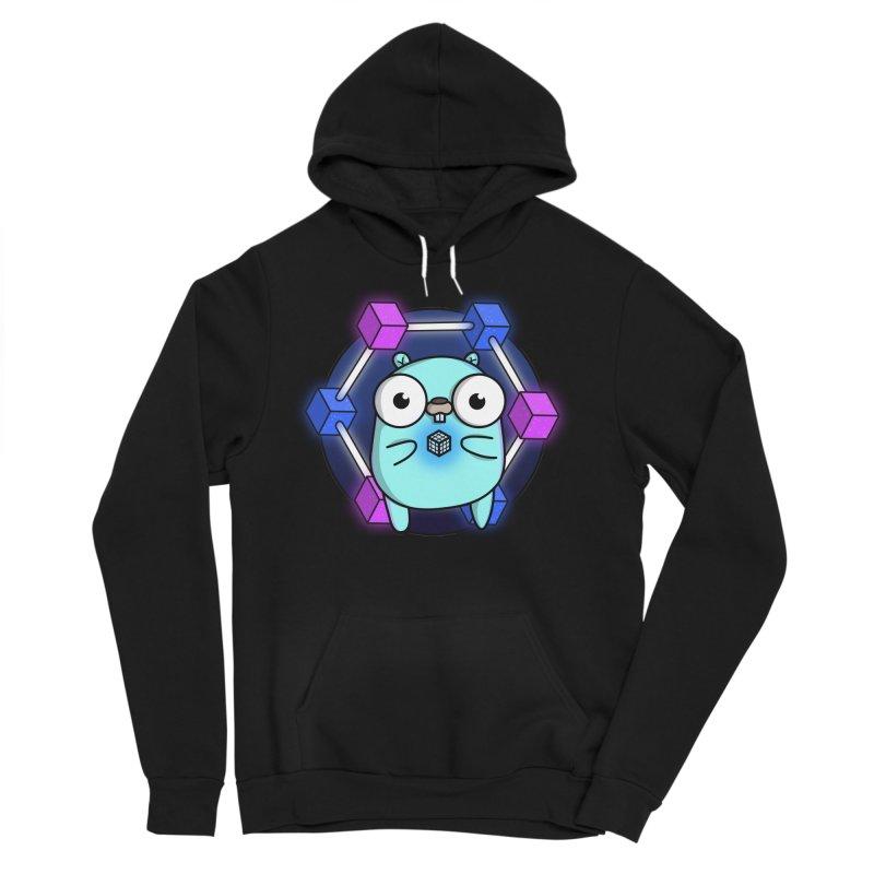 Blockchain Gopher Women's Sponge Fleece Pullover Hoody by Women Who Go