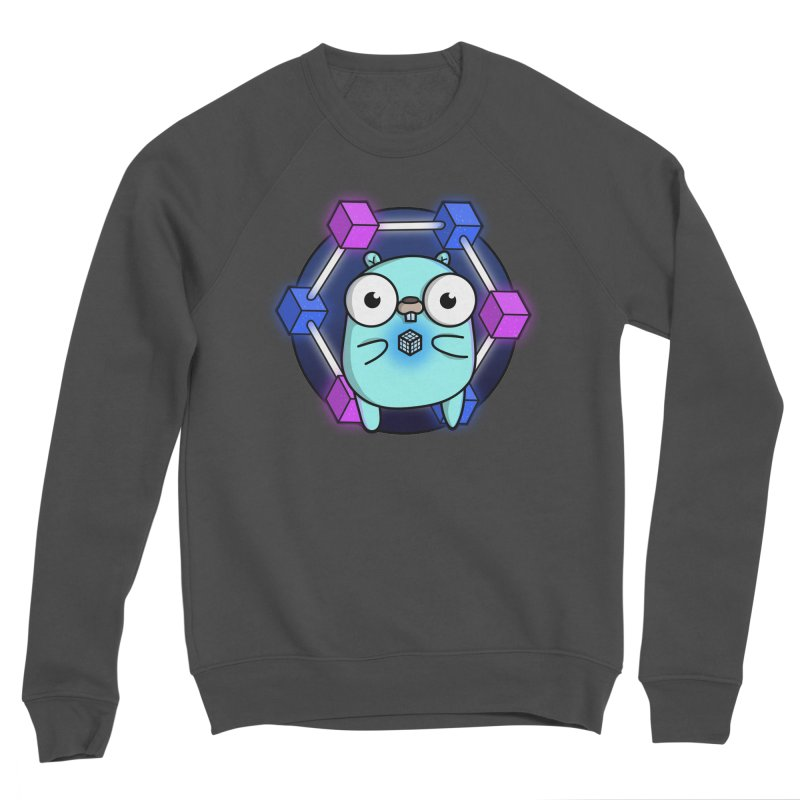 Blockchain Gopher Men's Sponge Fleece Sweatshirt by Women Who Go