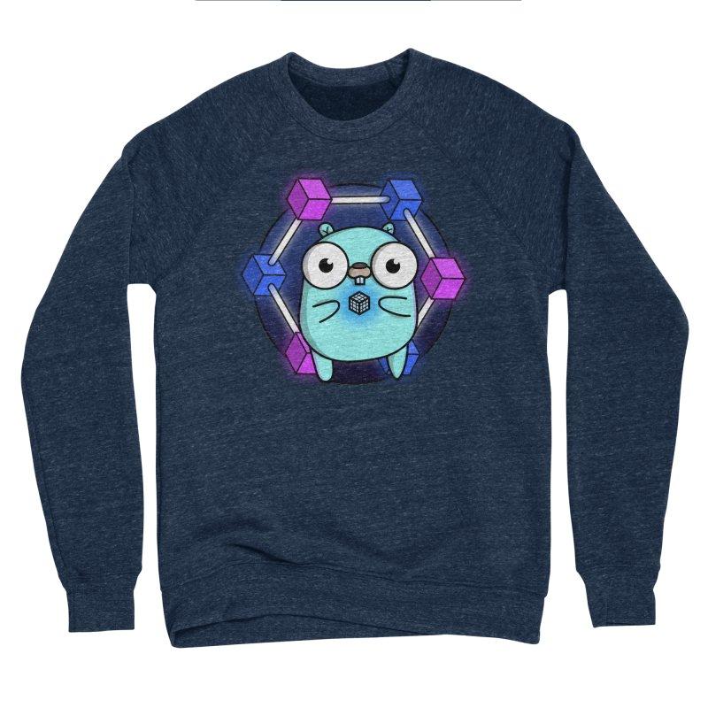 Blockchain Gopher Women's Sponge Fleece Sweatshirt by Women Who Go