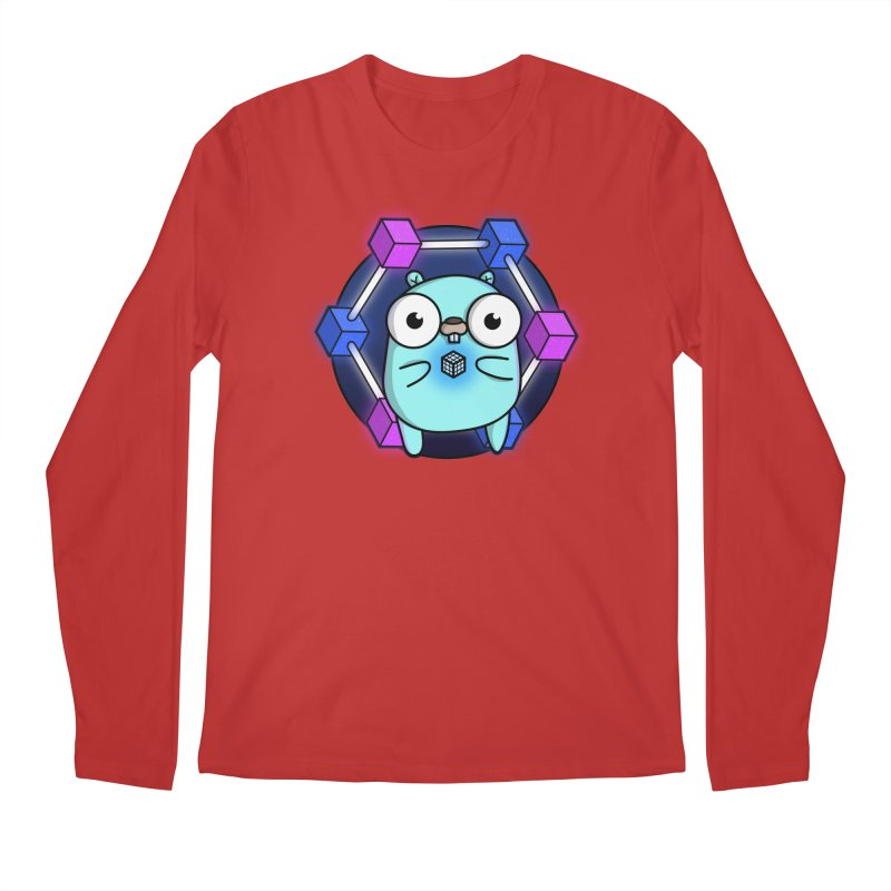 Blockchain Gopher Men's Longsleeve T-Shirt by Women Who Go