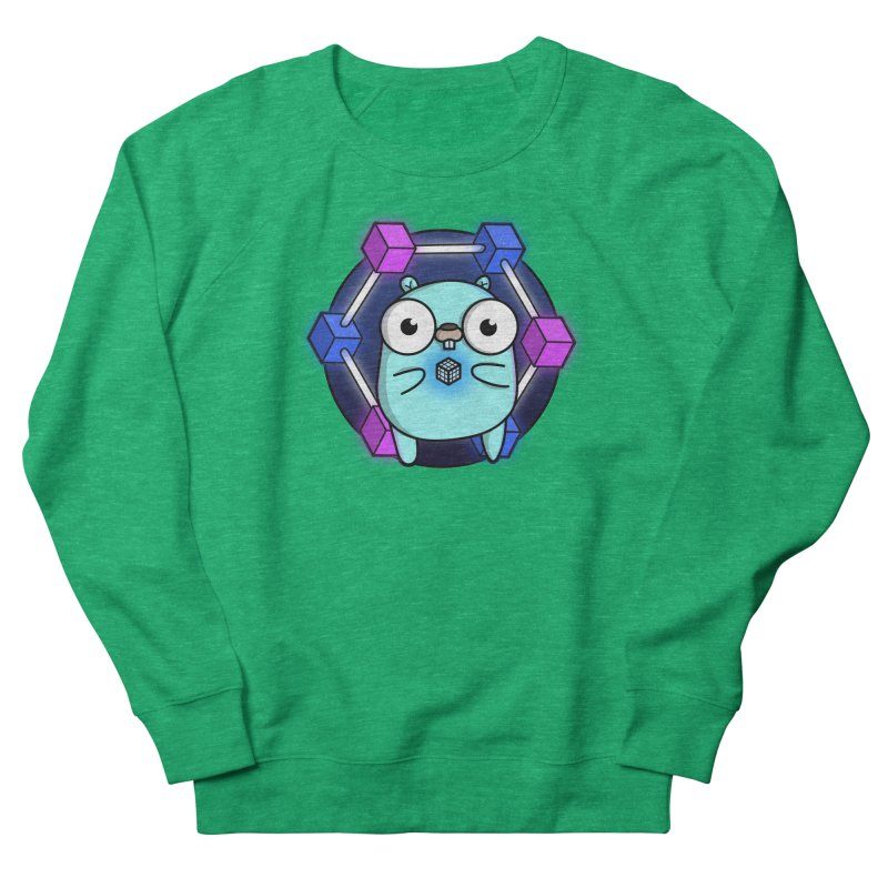 Blockchain Gopher Men's Sweatshirt by Women Who Go