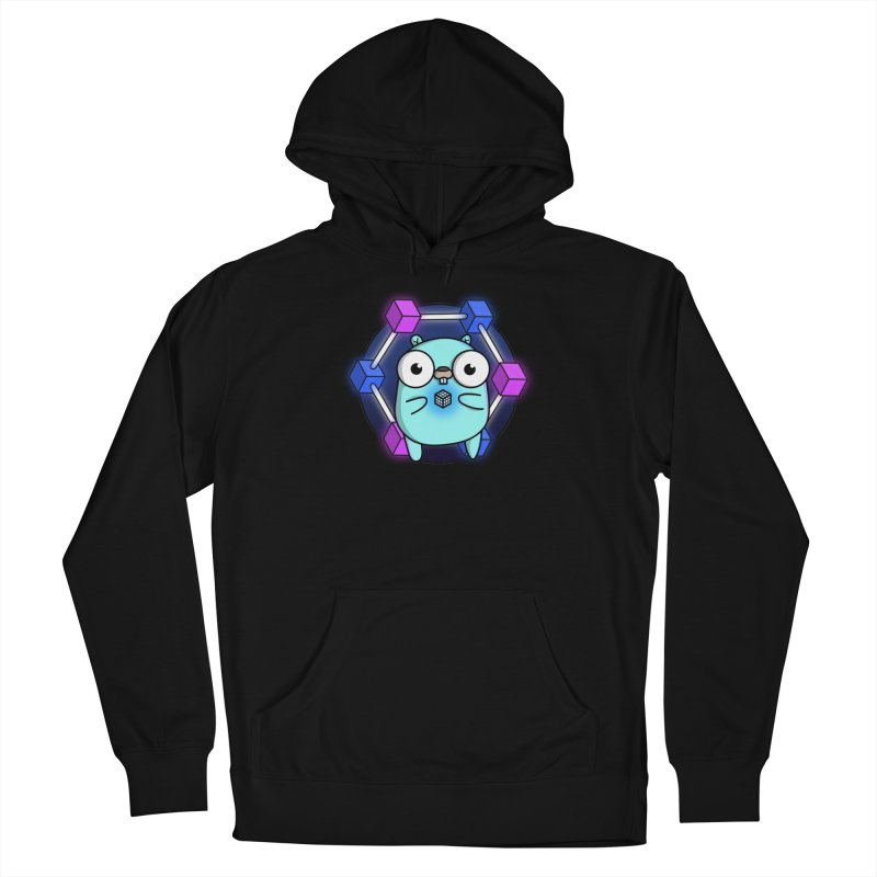 Blockchain Gopher Men's Pullover Hoody by Women Who Go