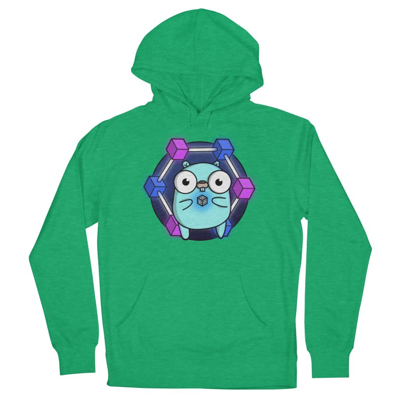 Blockchain Gopher Women's French Terry Pullover Hoody by Women Who Go