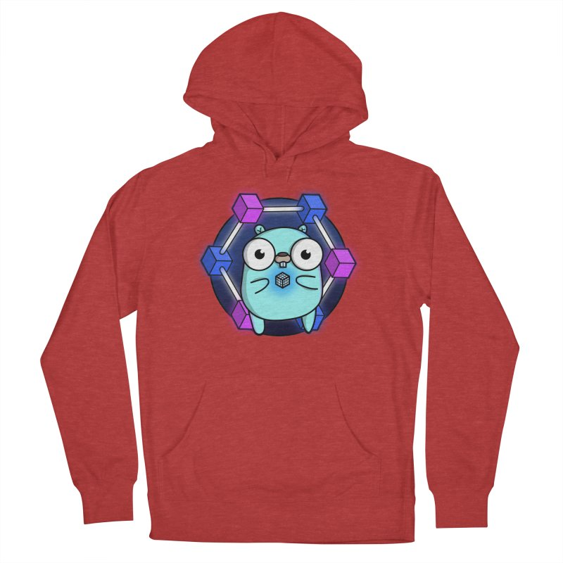 Blockchain Gopher Men's French Terry Pullover Hoody by Women Who Go