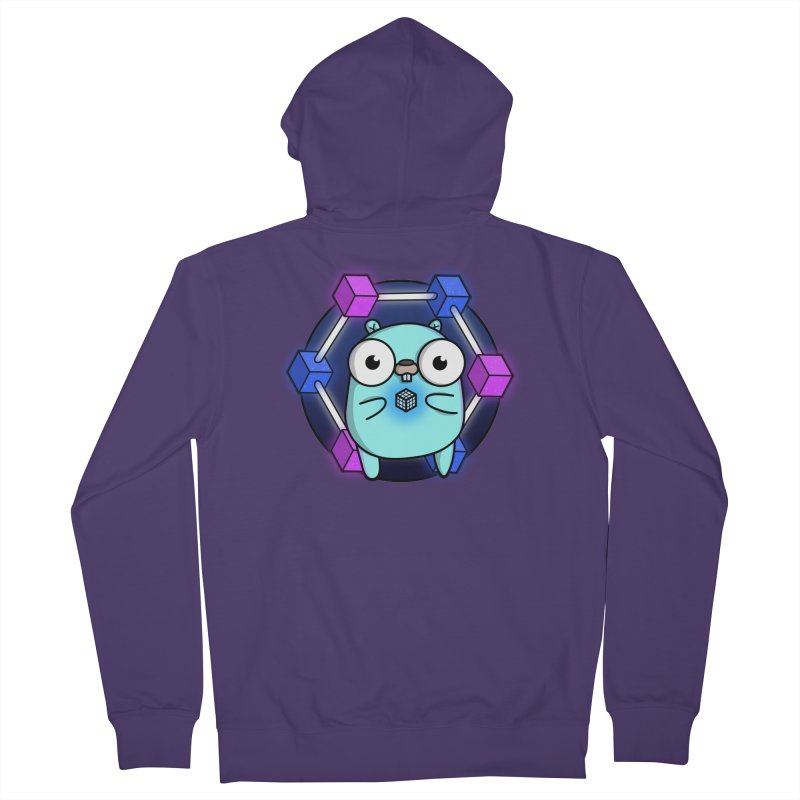 Blockchain Gopher Women's French Terry Zip-Up Hoody by Women Who Go