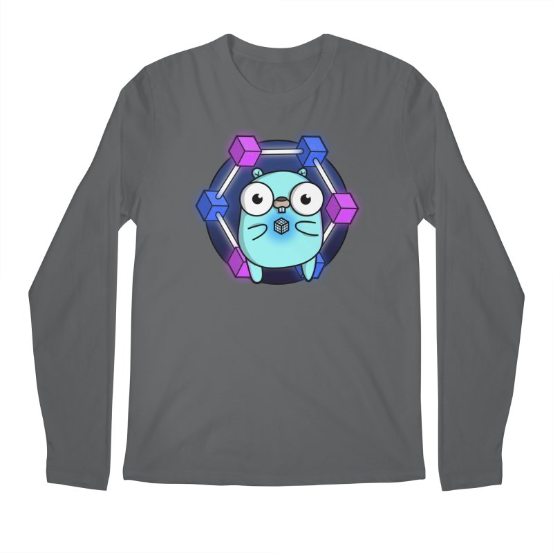 Blockchain Gopher Men's Longsleeve T-Shirt by Women Who Go