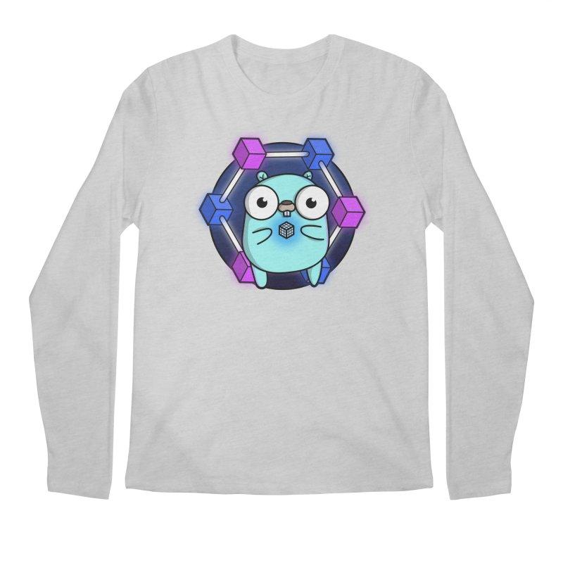 Blockchain Gopher Men's Regular Longsleeve T-Shirt by Women Who Go
