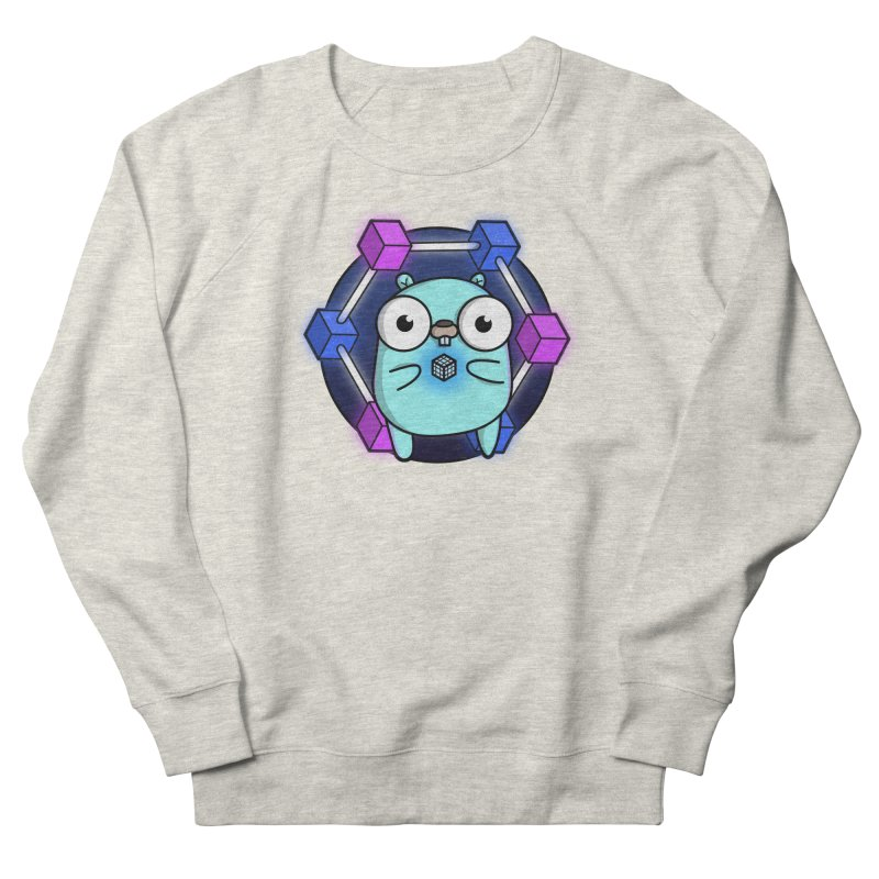Blockchain Gopher Women's French Terry Sweatshirt by Women Who Go