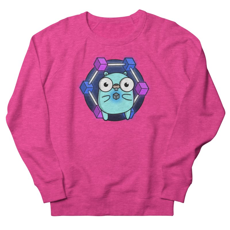 Blockchain Gopher Men's French Terry Sweatshirt by Women Who Go