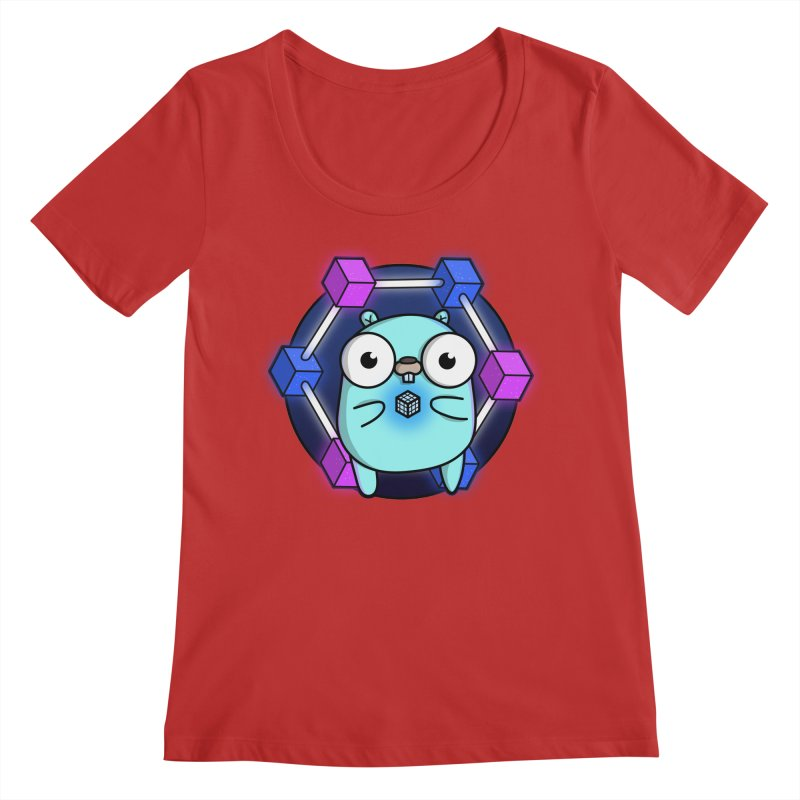 Blockchain Gopher Women's Regular Scoop Neck by Women Who Go