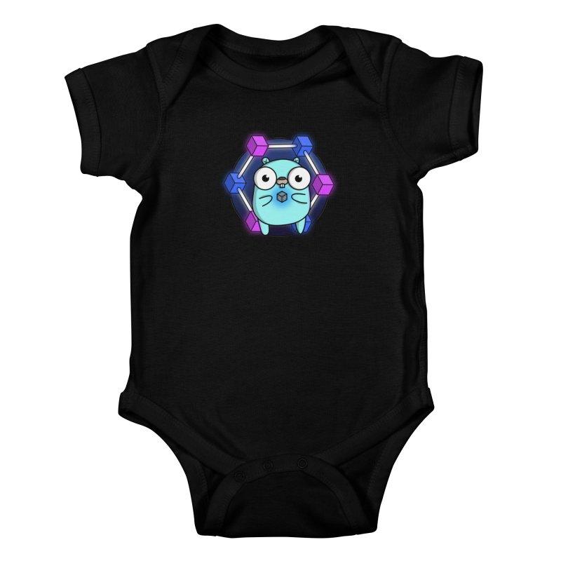 Blockchain Gopher Kids Baby Bodysuit by Women Who Go