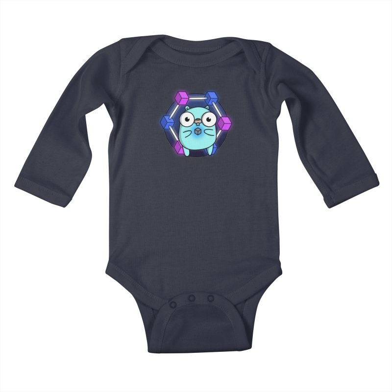 Blockchain Gopher Kids Baby Longsleeve Bodysuit by Women Who Go