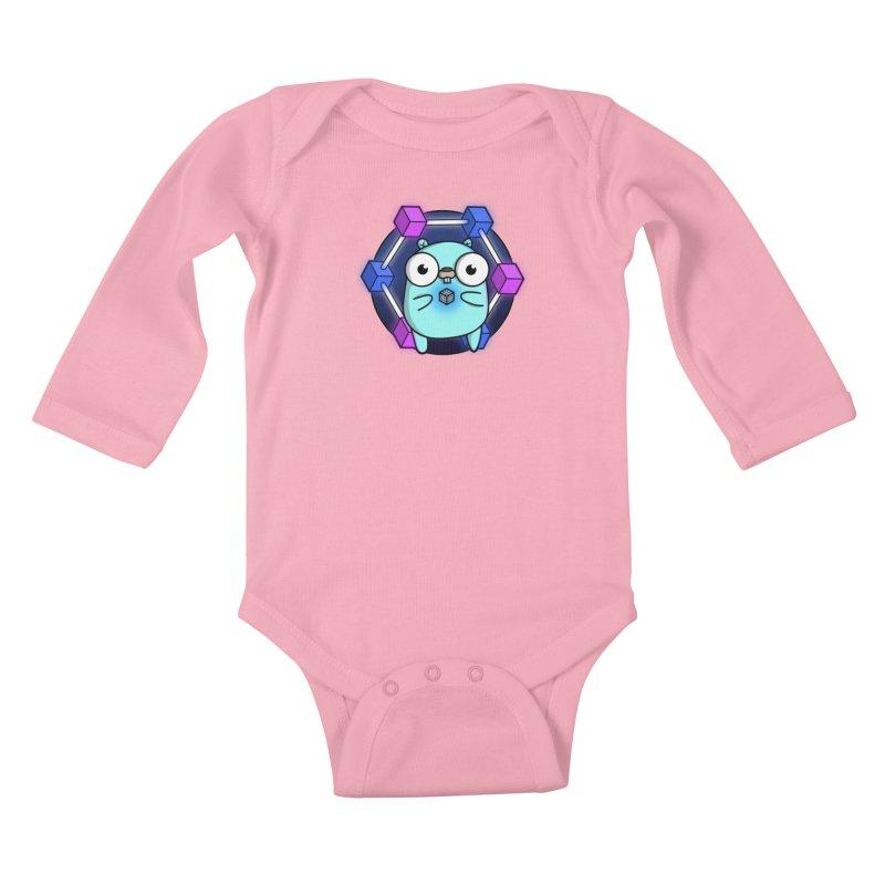 Blockchain Gopher Kids Baby Longsleeve Bodysuit by Women Who Go