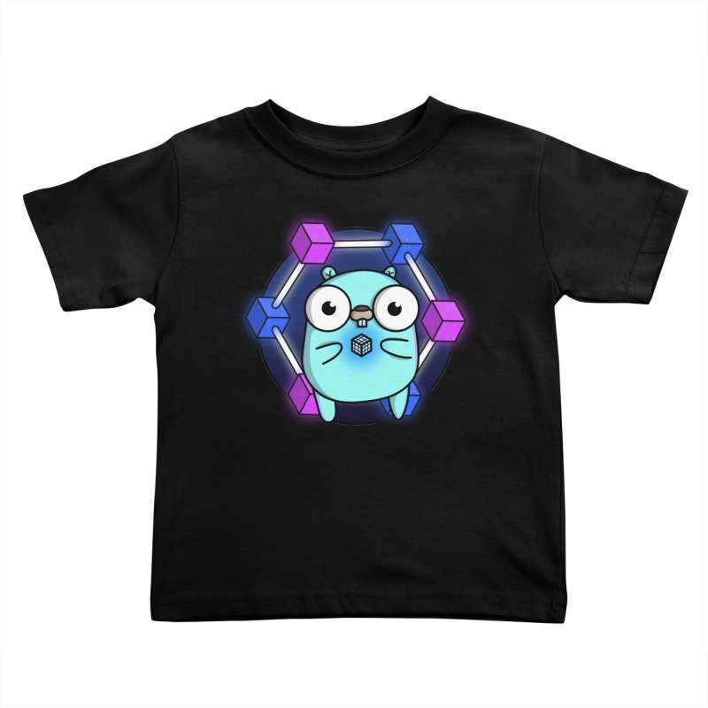 Blockchain Gopher Kids Toddler T-Shirt by Women Who Go
