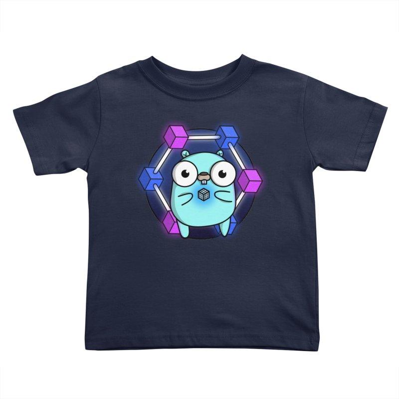 Blockchain Gopher Kids Toddler T-Shirt by Women Who Go