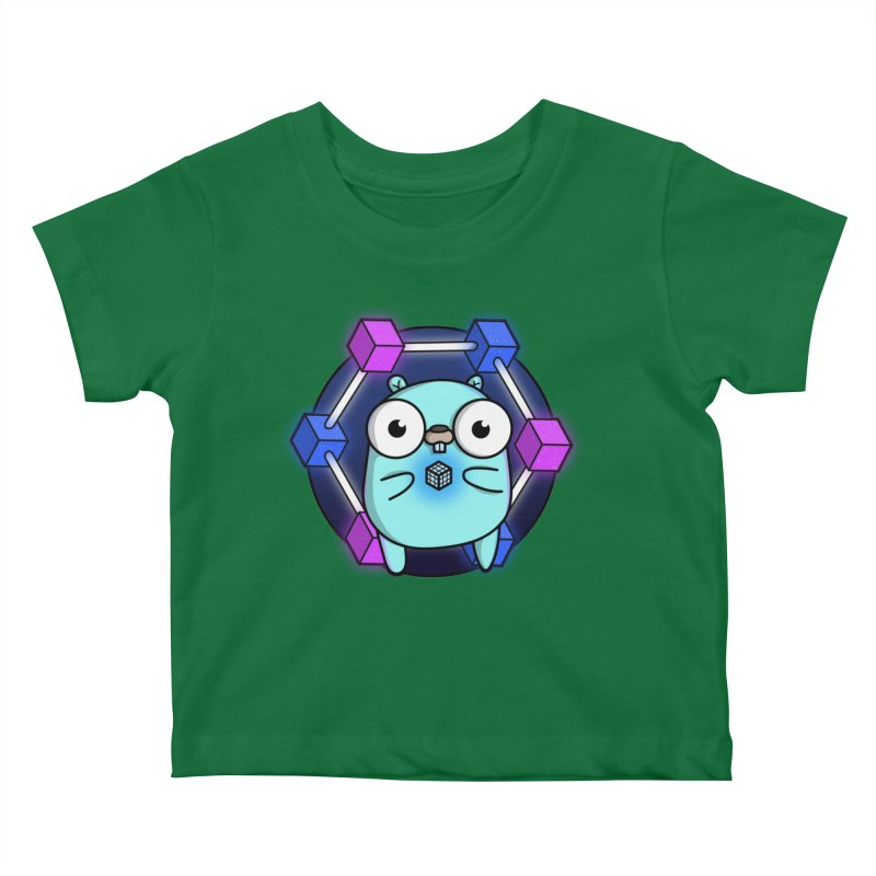 Blockchain Gopher Kids Baby T-Shirt by Women Who Go