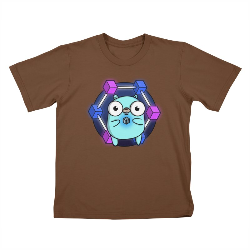 Blockchain Gopher Kids T-Shirt by Women Who Go