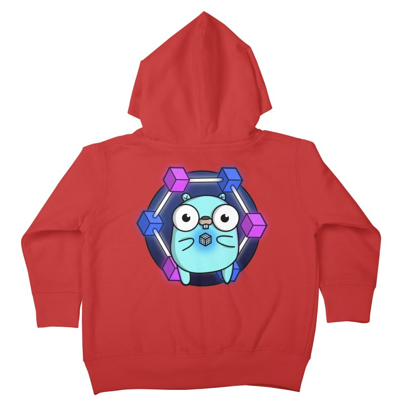 Blockchain Gopher Kids Toddler Zip-Up Hoody by Women Who Go