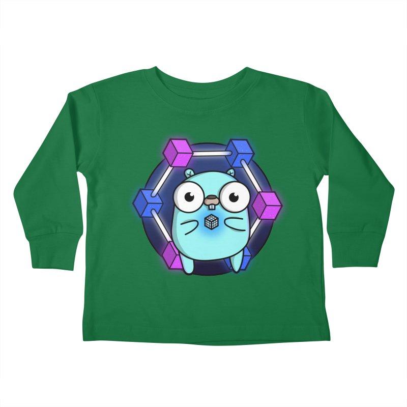 Blockchain Gopher Kids Toddler Longsleeve T-Shirt by Women Who Go