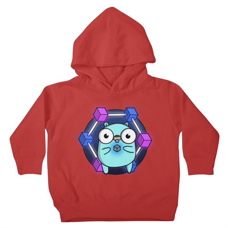 Blockchain Gopher Kids Toddler Pullover Hoody by Women Who Go