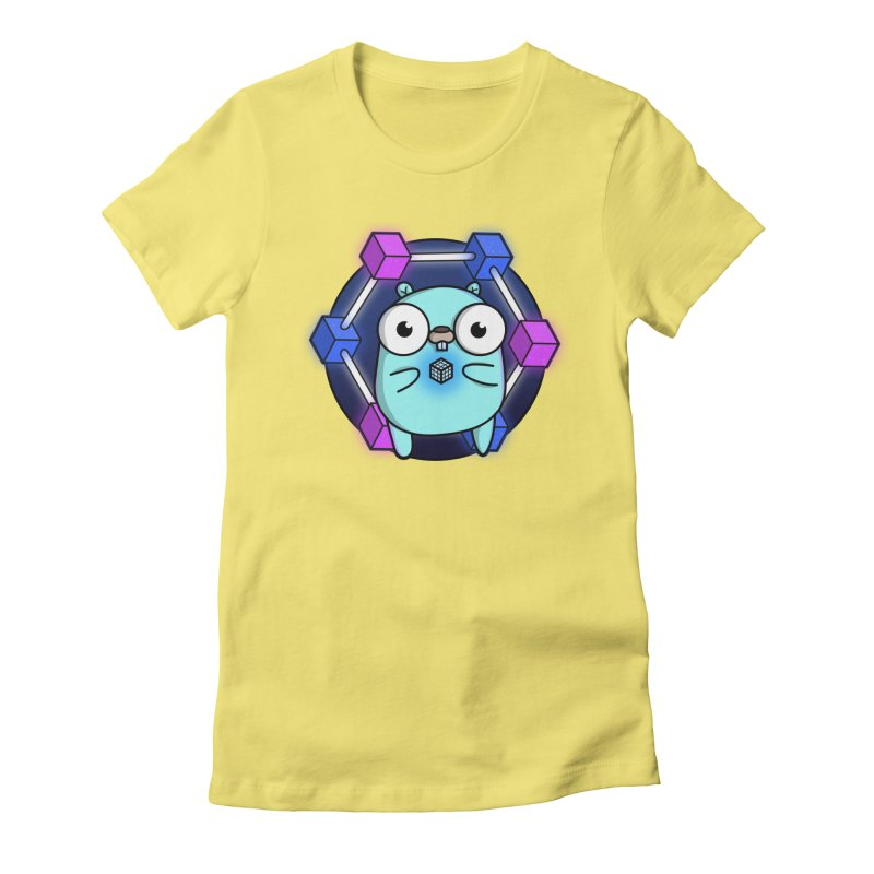 Blockchain Gopher Women's Fitted T-Shirt by Women Who Go