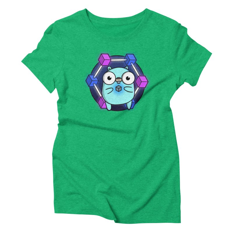 Blockchain Gopher Women's Triblend T-Shirt by Women Who Go