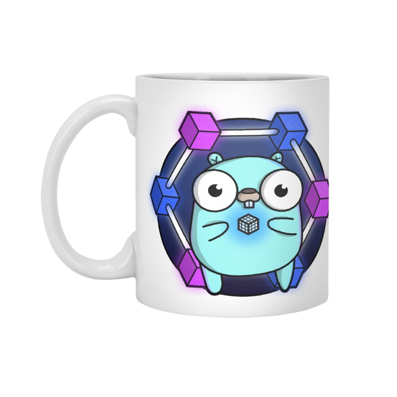 Blockchain Gopher Accessories Standard Mug by Women Who Go