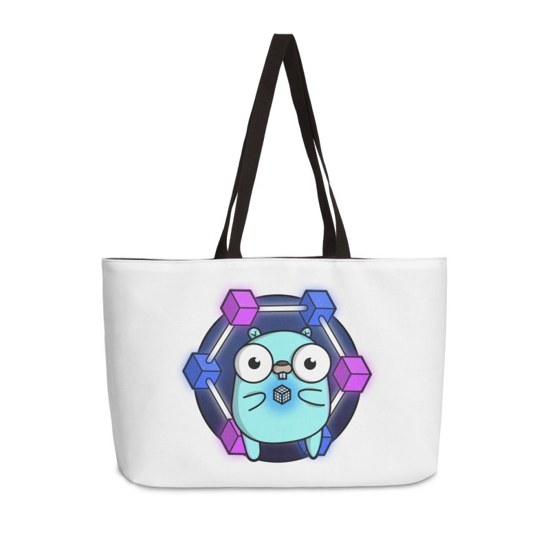 Blockchain Gopher Accessories Weekender Bag Bag by Women Who Go