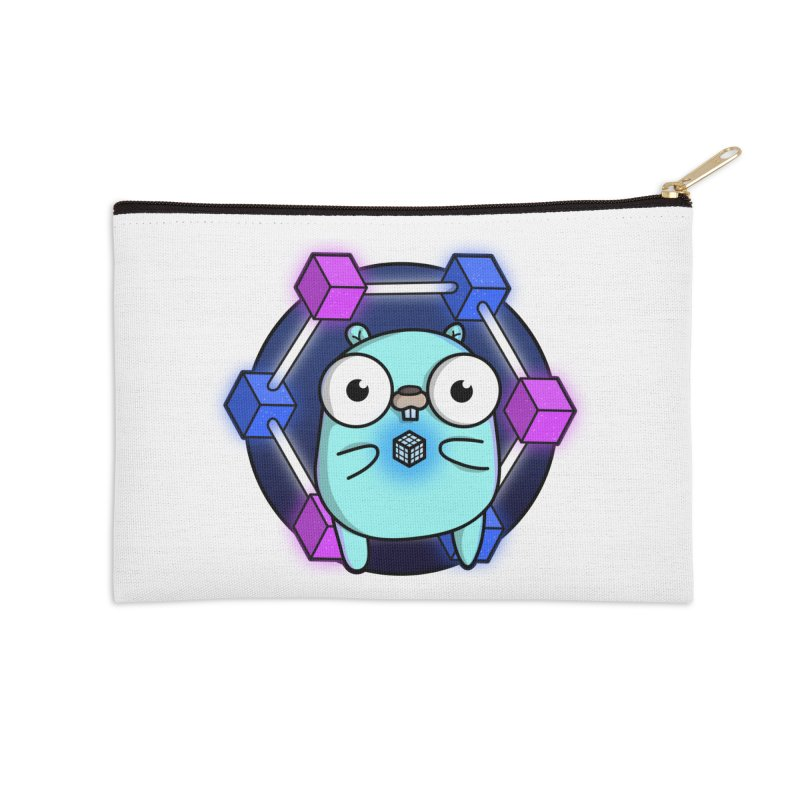 Blockchain Gopher Accessories Zip Pouch by Women Who Go