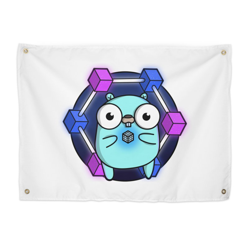 Blockchain Gopher Home Tapestry by Women Who Go