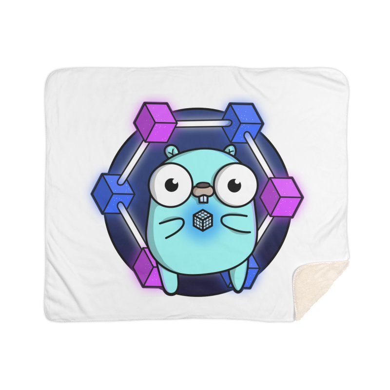 Blockchain Gopher Home Sherpa Blanket Blanket by Women Who Go