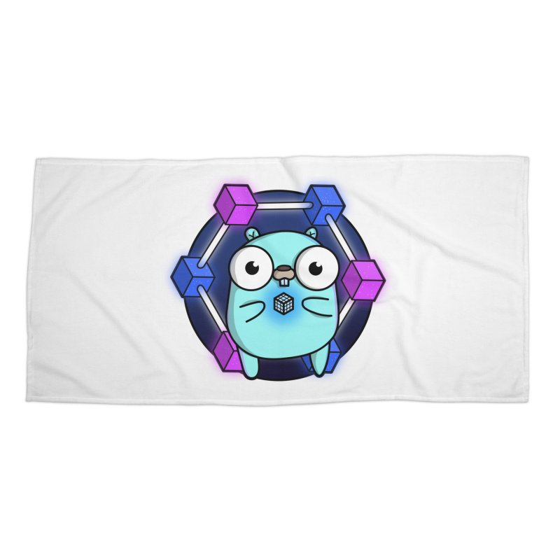 Blockchain Gopher Accessories Beach Towel by Women Who Go