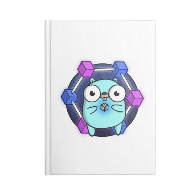 Blockchain Gopher Accessories Lined Journal Notebook by Women Who Go