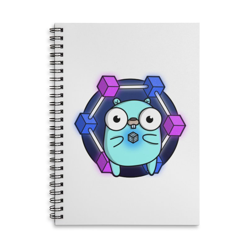 Blockchain Gopher Accessories Lined Spiral Notebook by Women Who Go