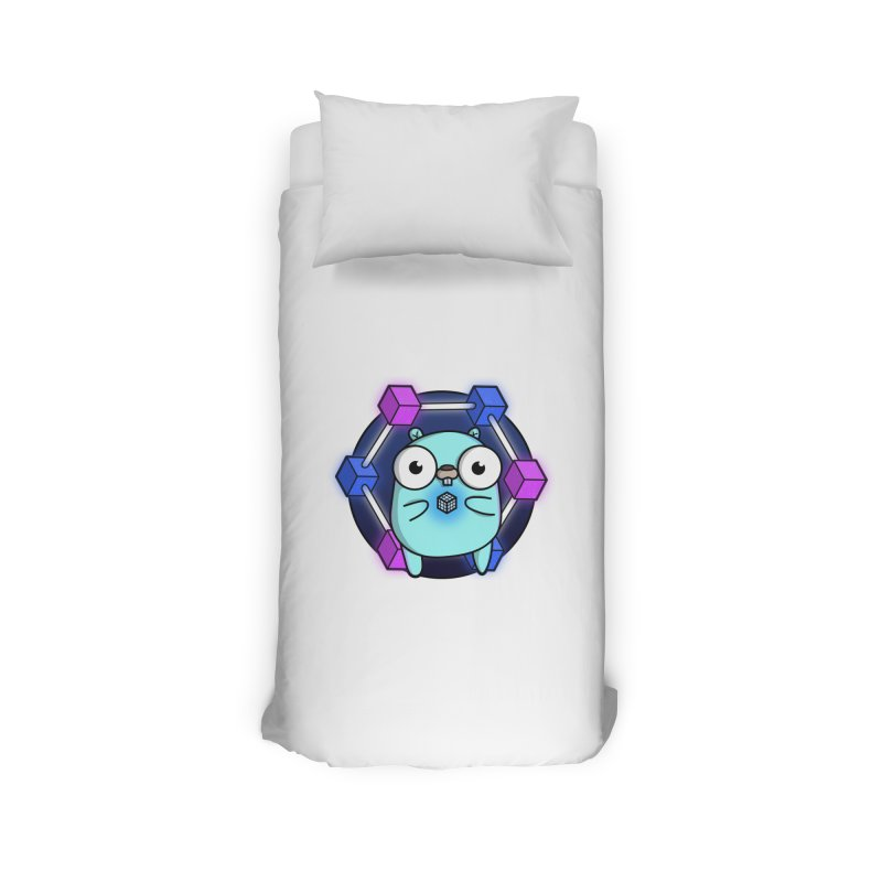 Blockchain Gopher Home Duvet by Women Who Go