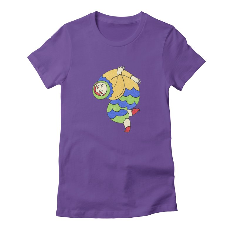 Let The Music Play in Women's Fitted T-Shirt Purple by Wonder Friends