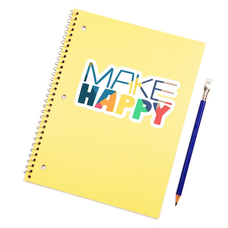 Make Happy Accessories Sticker by A Wonderful Shop of Wonderful Wonders