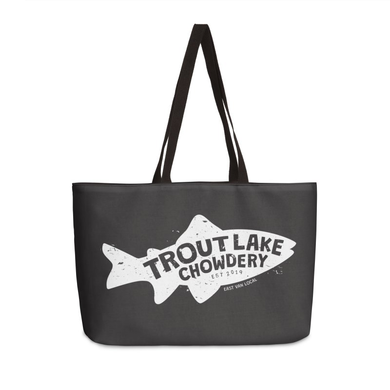 Trout Lake Chowdery Accessories Weekender Bag Bag by A Wonderful Shop of Wonderful Wonders