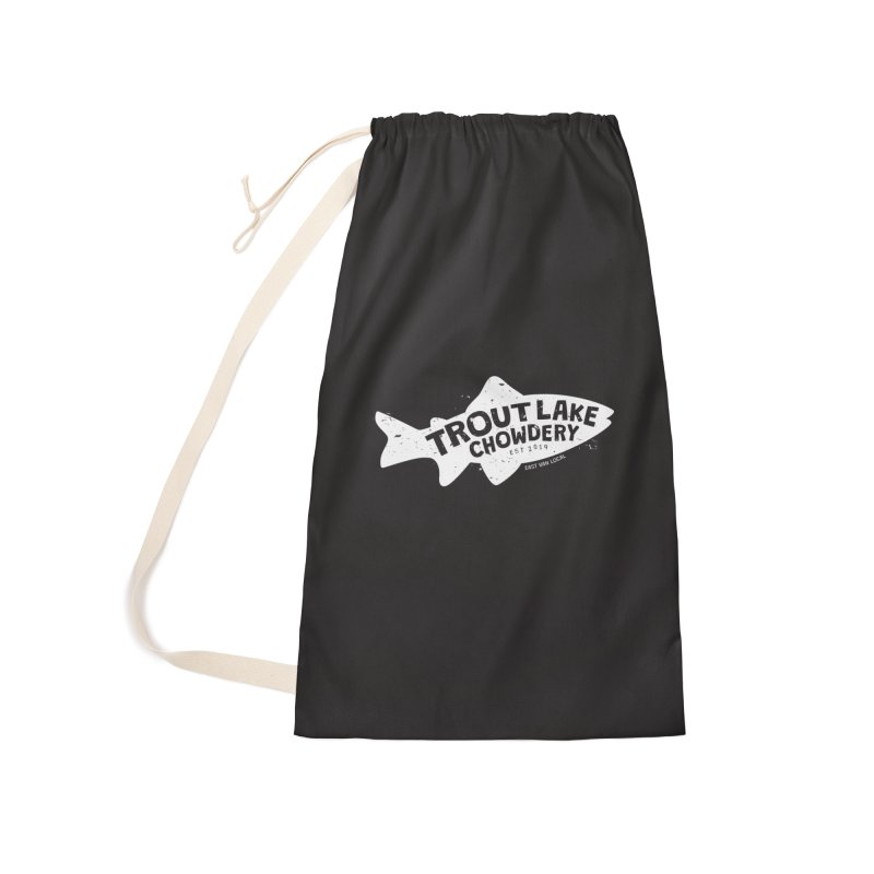 Trout Lake Chowdery Accessories Laundry Bag Bag by A Wonderful Shop of Wonderful Wonders